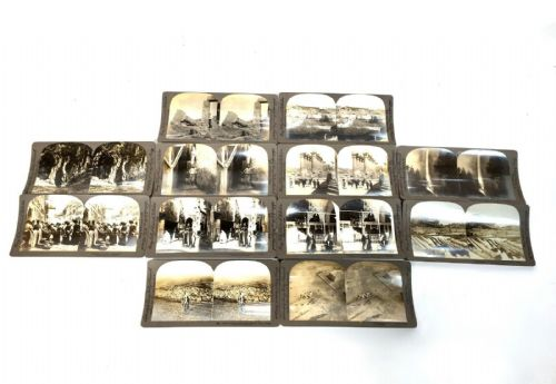 Antique Stereo Viewer Slides / Photos / Card Set / Berry Kelly & Chadwick